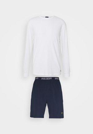 HUGO SET - Pyjama - bright white/peacoat