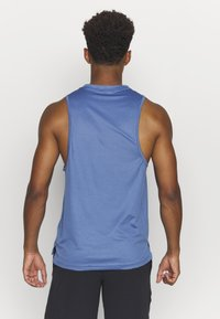 Nike Performance - TANK DRY - Sports shirt - mystic navy/stone blue/heather/black - 2