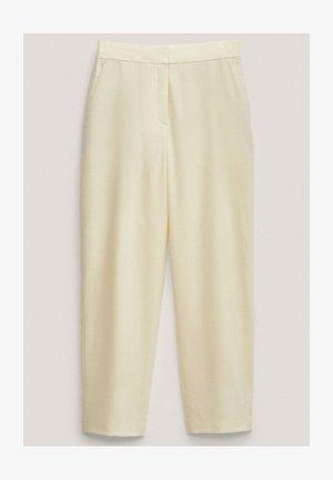 GERADE GESCHNITTENE WOLLHOSE - Pantalon classique - beige
