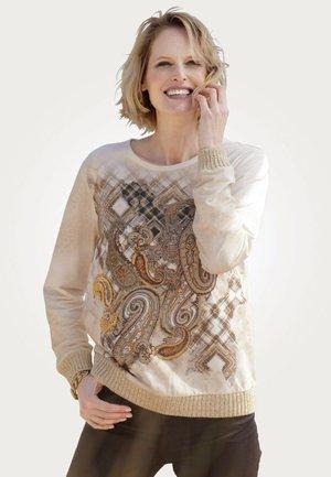Sweatshirt - ecru sand ockergelb