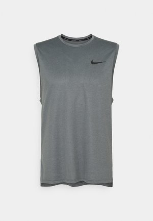 DRY TANK - Top - black/smoke grey heather