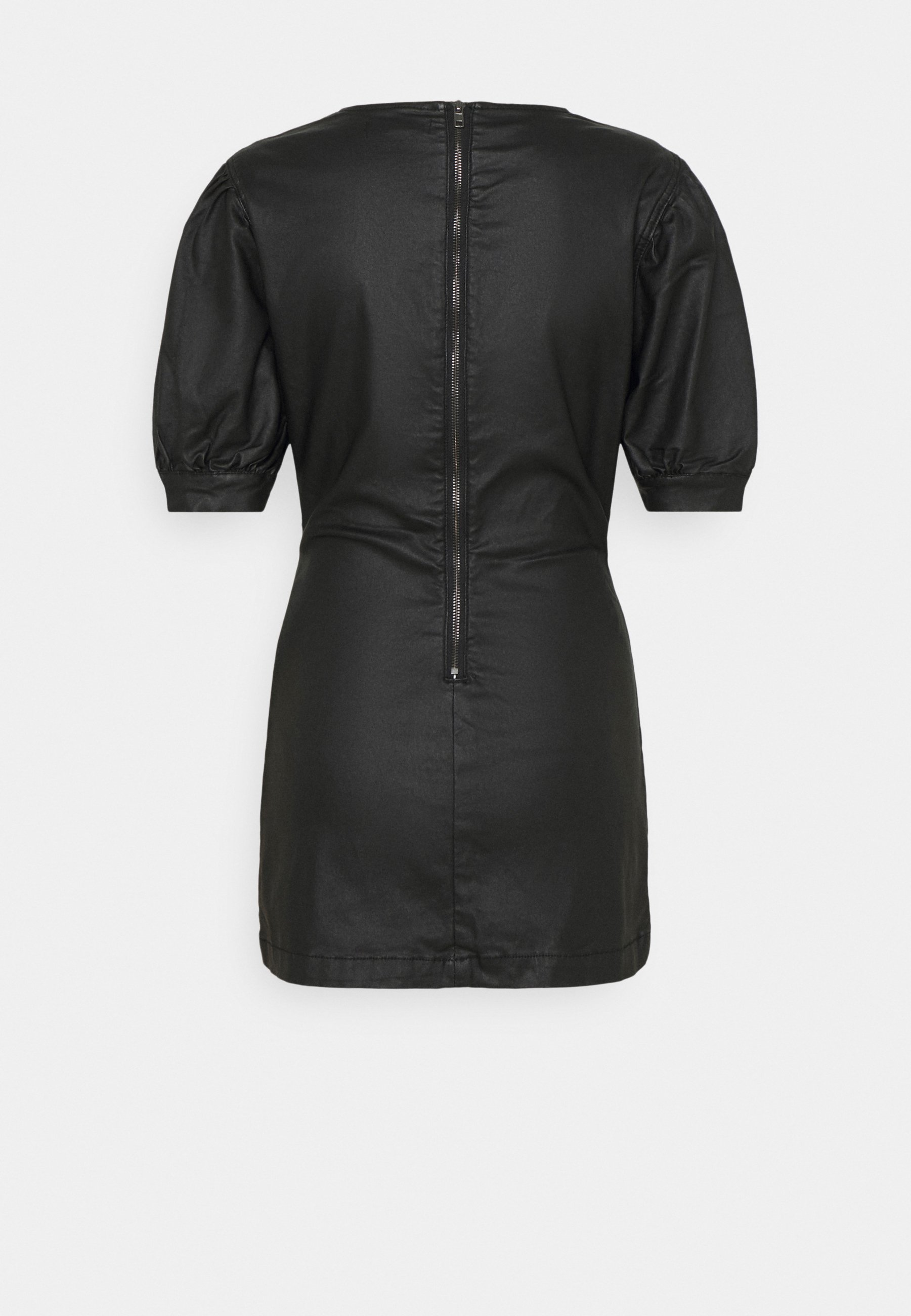 Women COATED PUFF SLEEVE DRESS - Day dress
