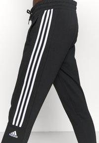 adidas Performance - COLORBLOCK ESSENTIALS - Teplákové kalhoty - black/white - 4