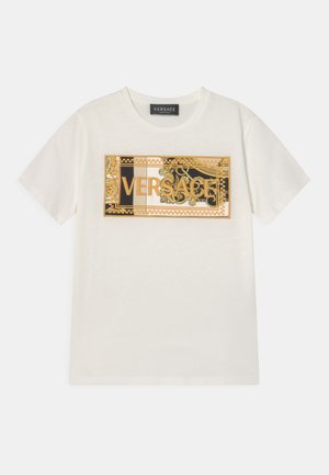 HERITAGE EMBRODER UNISEX - Print T-shirt - white/black/gold