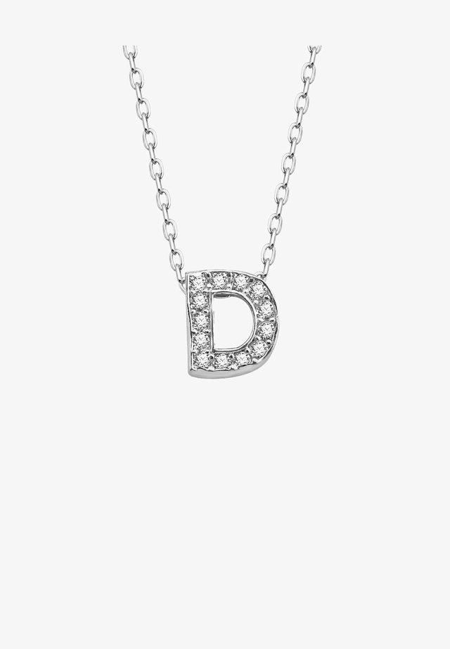 BUCHSTABEN D  - Necklace - silber