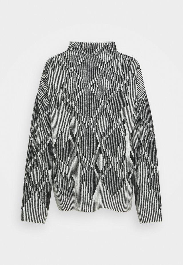 HELENA - Sweter - white/black