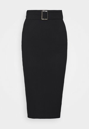 SELF BELTED MIDAXI SKIRT - Spódnica ołówkowa  - black