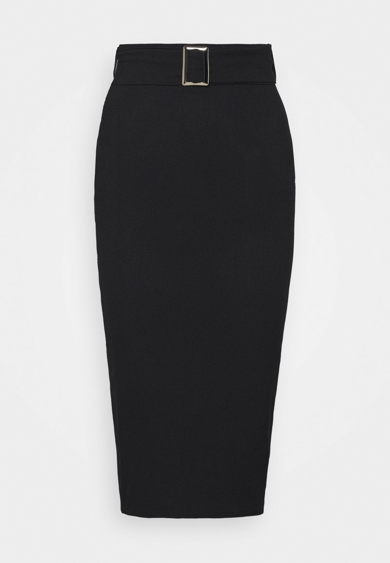 Missguided Petite - SELF BELTED MIDAXI SKIRT - Pouzdrová sukně - black