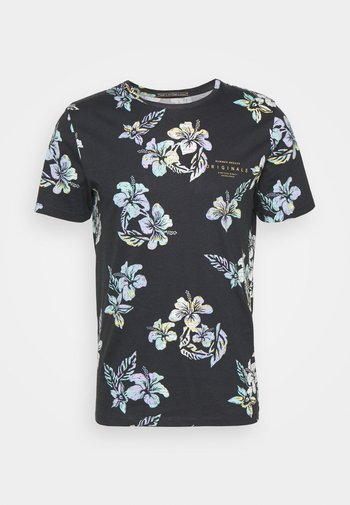 JORHAZY TEE CREW NECK - Print T-shirt - dark navy