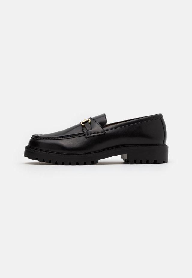 SEAN TRIM LOAFER - Slippers - black