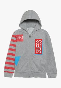 Guess - TODDLER HOODED ACTIVE ZIP - Zip-up hoodie - light heather grey - 0