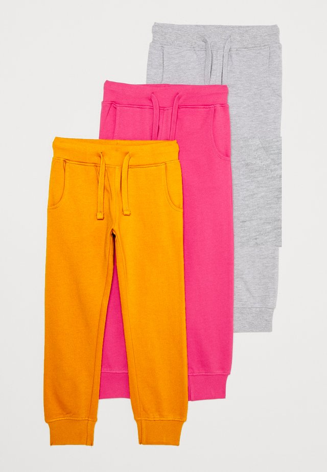 3 PACK - Jogginghose - berry/light grey/ochre
