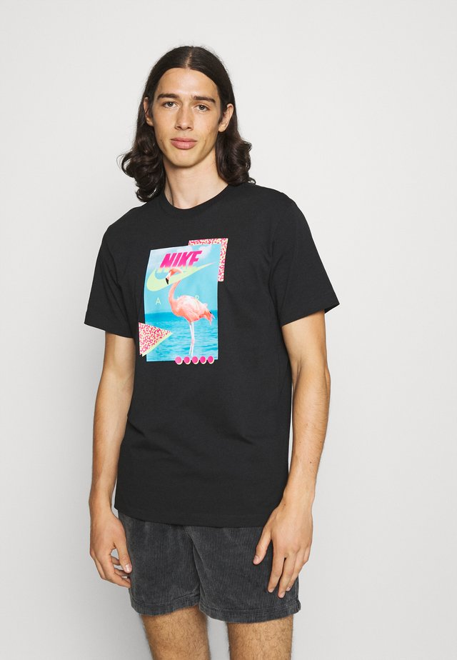 M NSW BEACH FLAMINGO - Print T-shirt - black