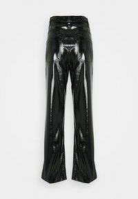 Nly by Nelly - PATENT ZIP PANTS - Trousers - black - 1