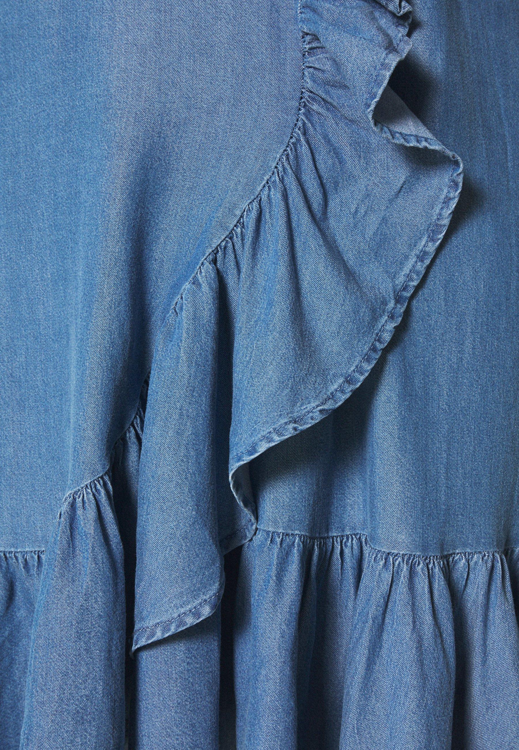 Zizzi MDYA DRESS - Hverdagskjoler - mid blue denim -  sMqbD