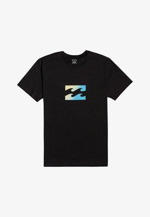 TEAM WAVE  - Print T-shirt - black