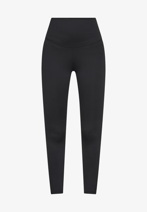 YOGA RUCHE 7/8 - Legging - black/smoke grey