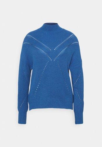 Stickad tröja - medium blue