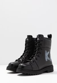 KARL LAGERFELD - KADET HI LACE BOOT - Lace-up ankle boots - black - 4