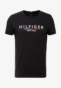 Tommy Hilfiger - CORP UNDERLINE TEE - Camiseta estampada - black