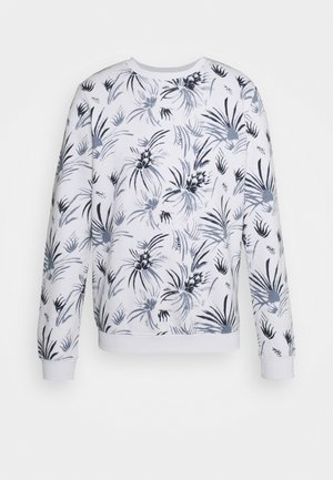 CREWNECK WITH ALLOVER PRINT - Sweatshirt - white navy thistle