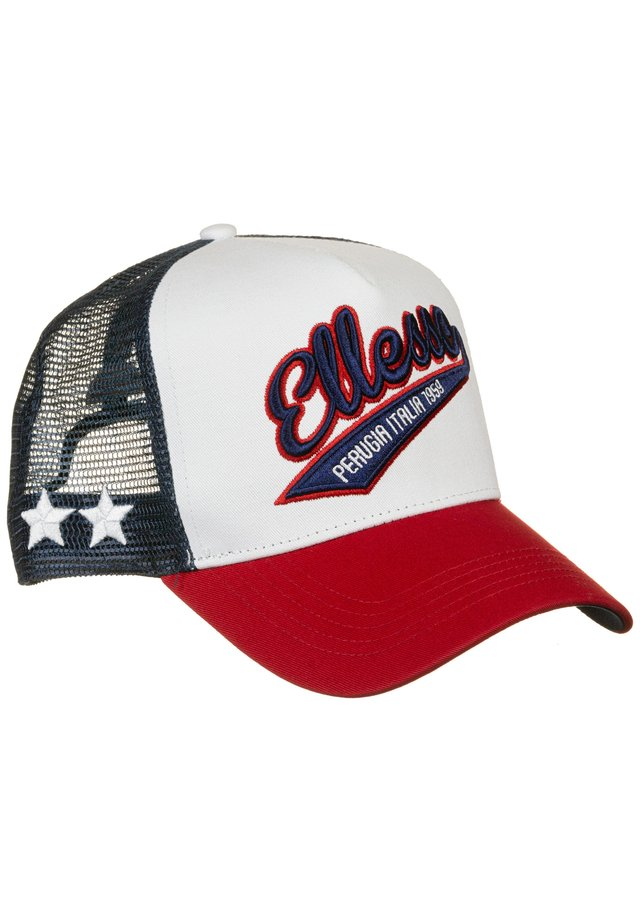 TRACK TRUCKER CAP - Cap - white/navy/red