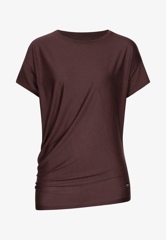 Print T-shirt - dunkelbraun