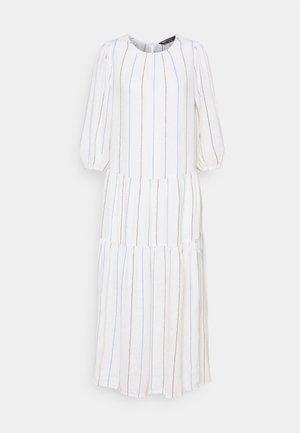 TIERED MIDI DRESS - Day dress - white