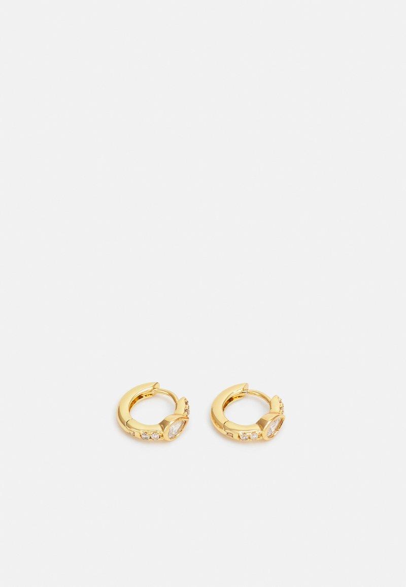 Orelia - TEARDOP HUGGIE HOOP - Earrings - gold-coloured