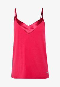 LASCANA - LASCANA SHINY - Pyjama top - red - 4