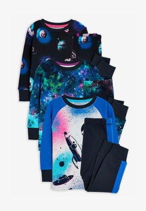 3 PACK SPACE PRINT  - Pyjama set - blue
