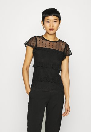 TIERED DOBBY  - Blouse - black