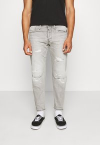 G-Star - ALUM RELAXED TAPERED - Relaxed fit jeans - sato black denim/sun faded ripped pewter grey - 0