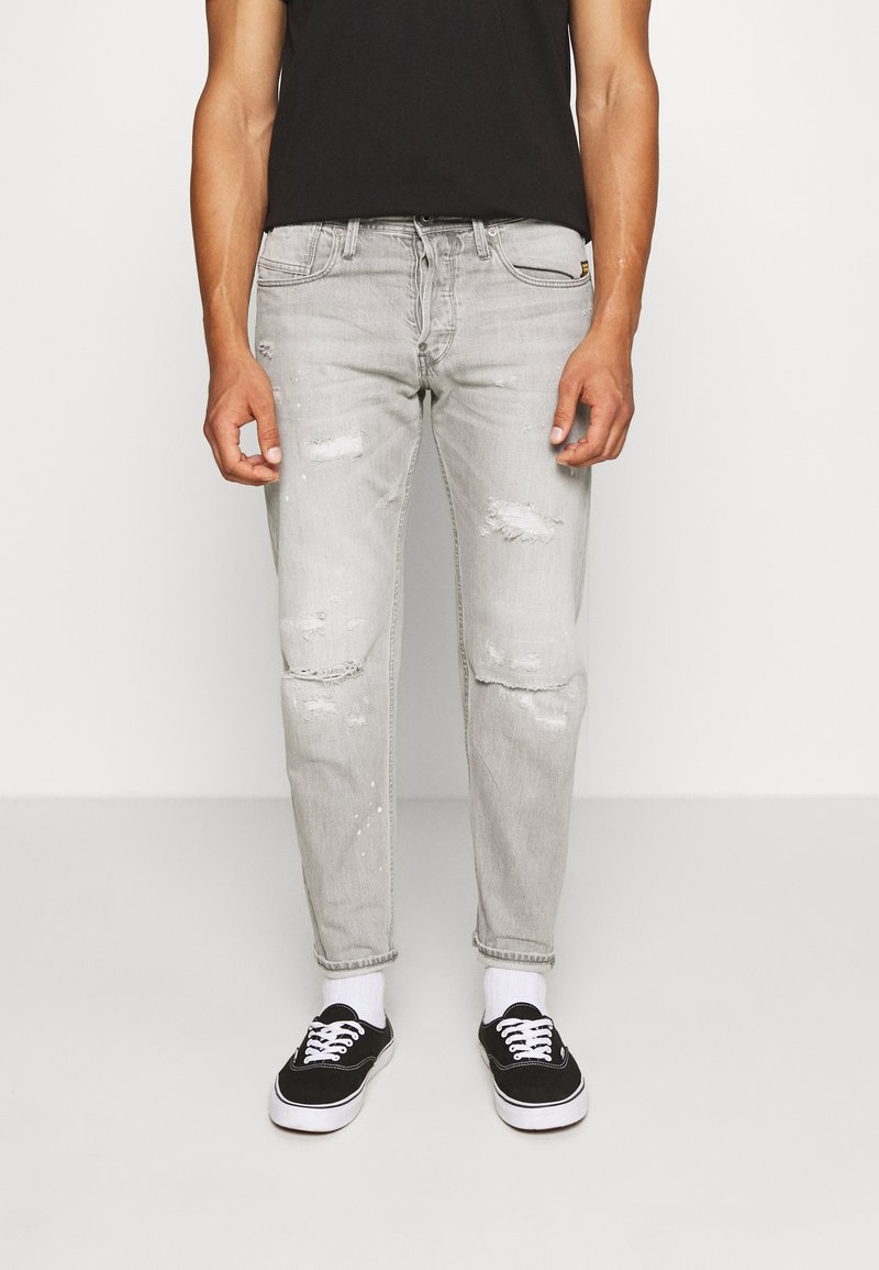 G-Star - ALUM RELAXED TAPERED - Relaxed fit jeans - sato black denim/sun faded ripped pewter grey
