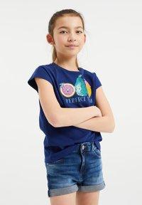 WE Fashion - T-shirt print - blue - 1