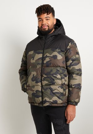 JJDREW PUFFER HOOD - Winter jacket - khaki