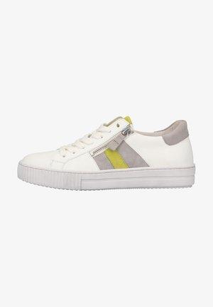 Sneakers laag - weiss/grau/lemon