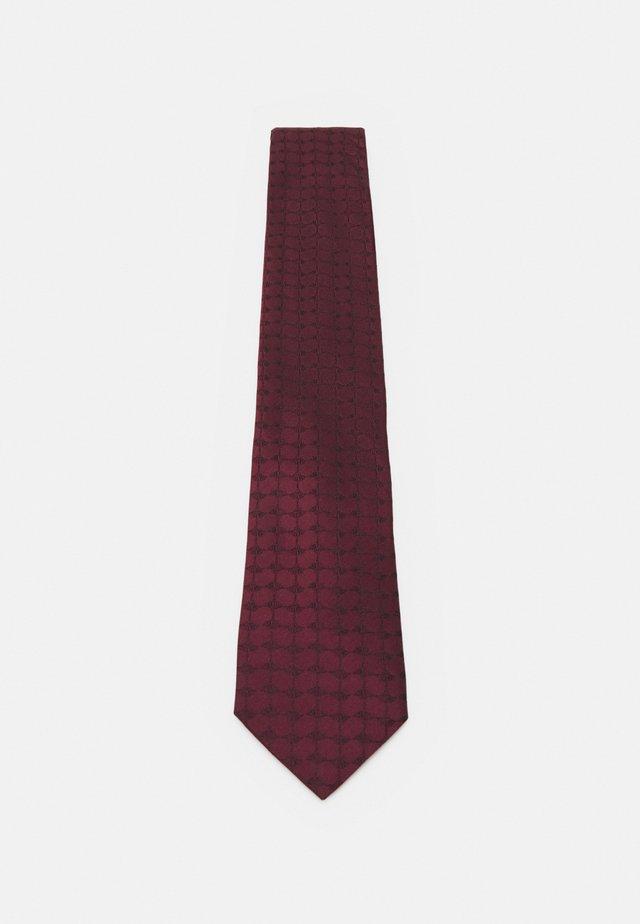 TIE - Cravatta - bordeaux