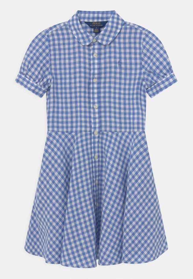 Shirt dress - blue/white
