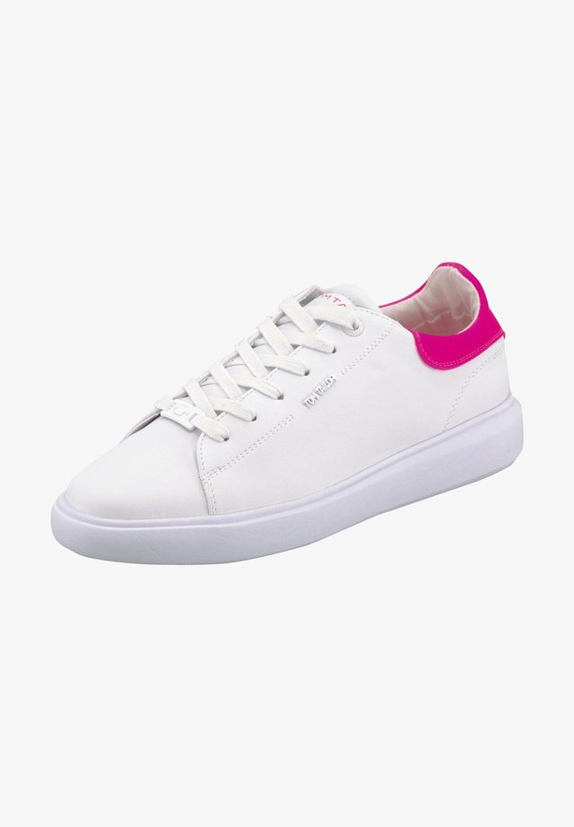 Sneakers laag - white-neon pink