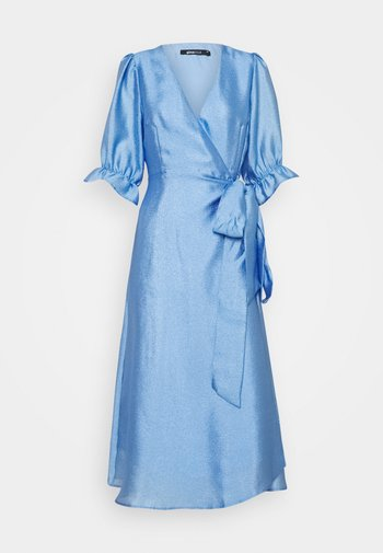 MILLY WRAP DRESS - Vestito elegante - light blue
