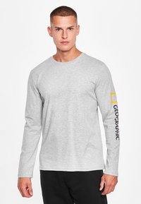 National Geographic - MIT PRINT - Long sleeved top - light grey melange - 0