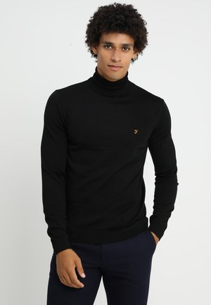 GOSFORTH ROLL NECK EXTRA  - Stickad tröja - black
