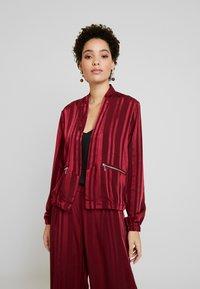 Fransa - FRGASHADOW JACKET - Summer jacket - syrah - 0