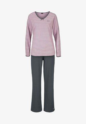 Pyjamas - rosa/anthrazit