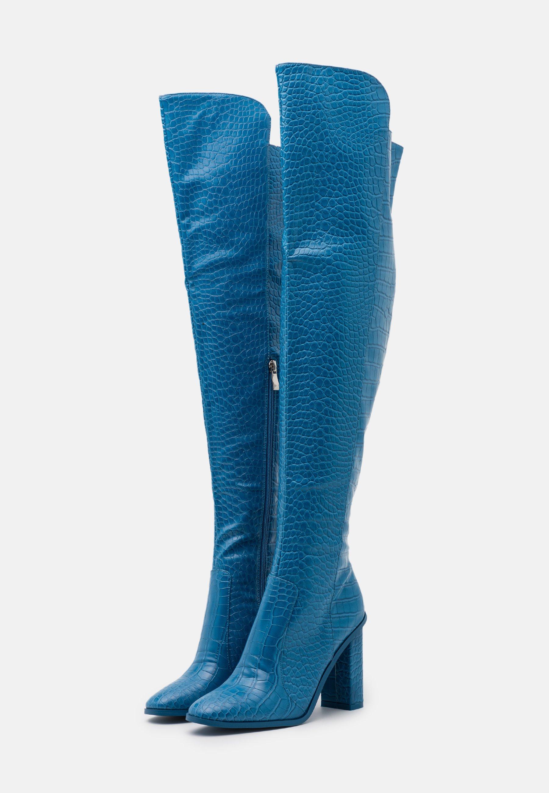 RAID CYNTHIA High Heel Stiefel blue/blau