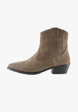 Cowboy/biker ankle boot - schlamm