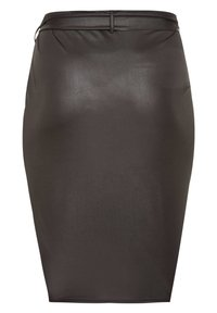 Yours Clothing - Wrap skirt - black - 4