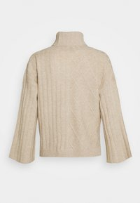 pure cashmere - PATTERNED CROP - Trui - oatmeal - 0