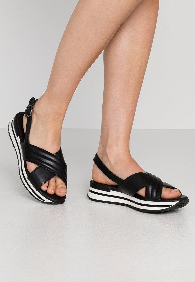 MAHONY - CLONE - Platform sandals - black